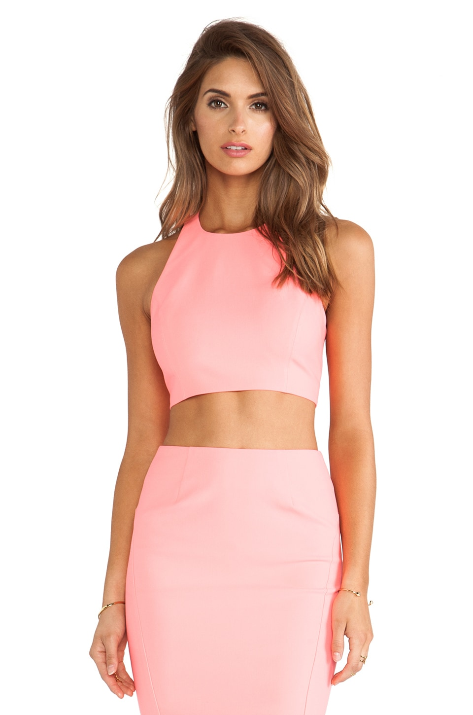 Elizabeth and James Upton Top in Hot Coral