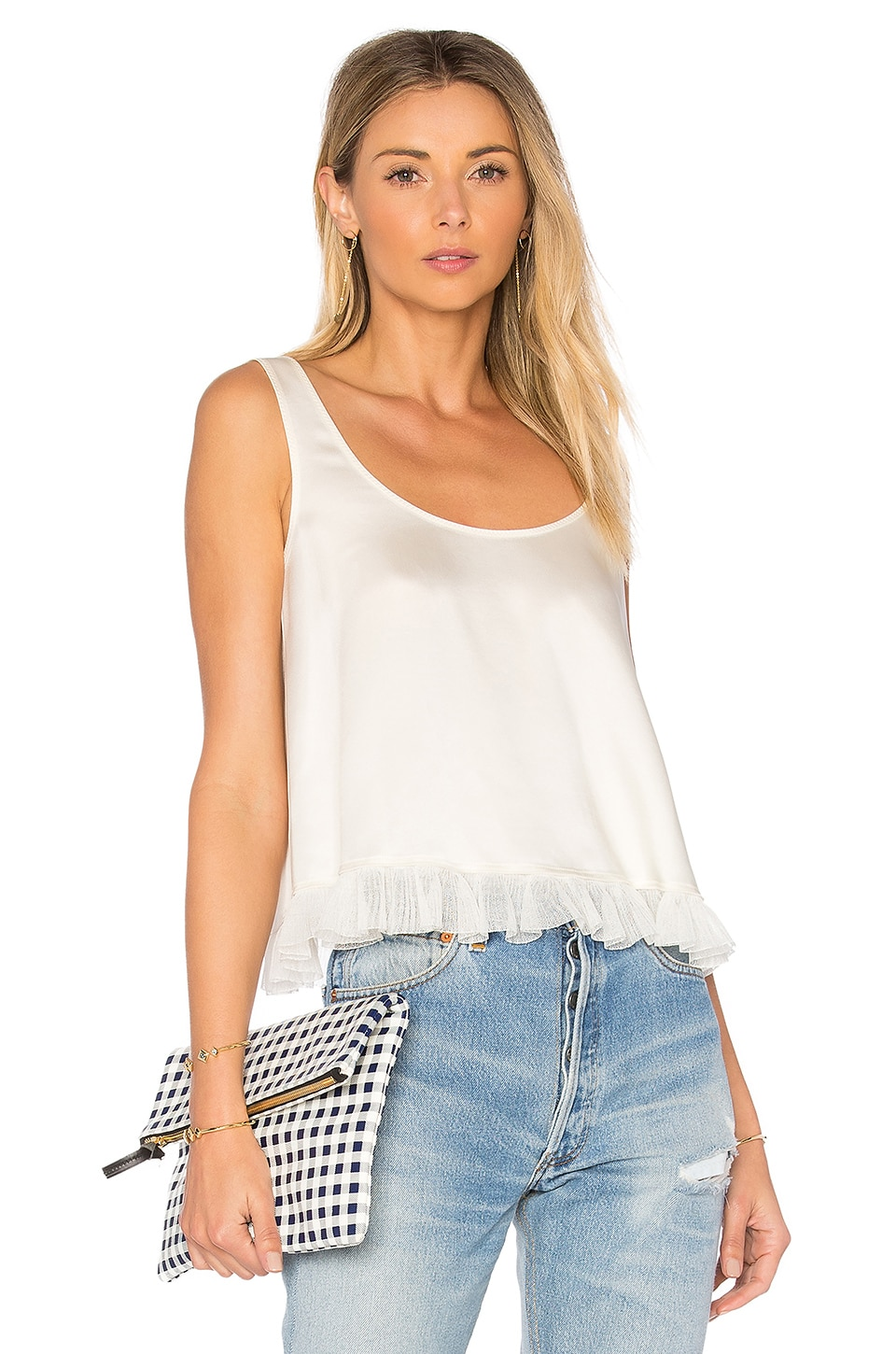 Andrea Cropped Ruffle Top by Elizabeth and James