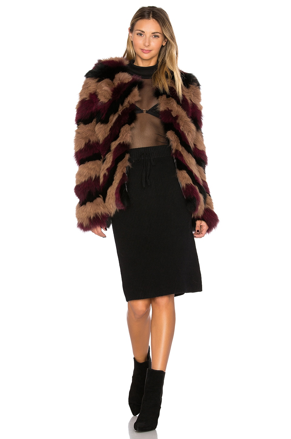 Bianca Fox Fur Jacket by EAVES