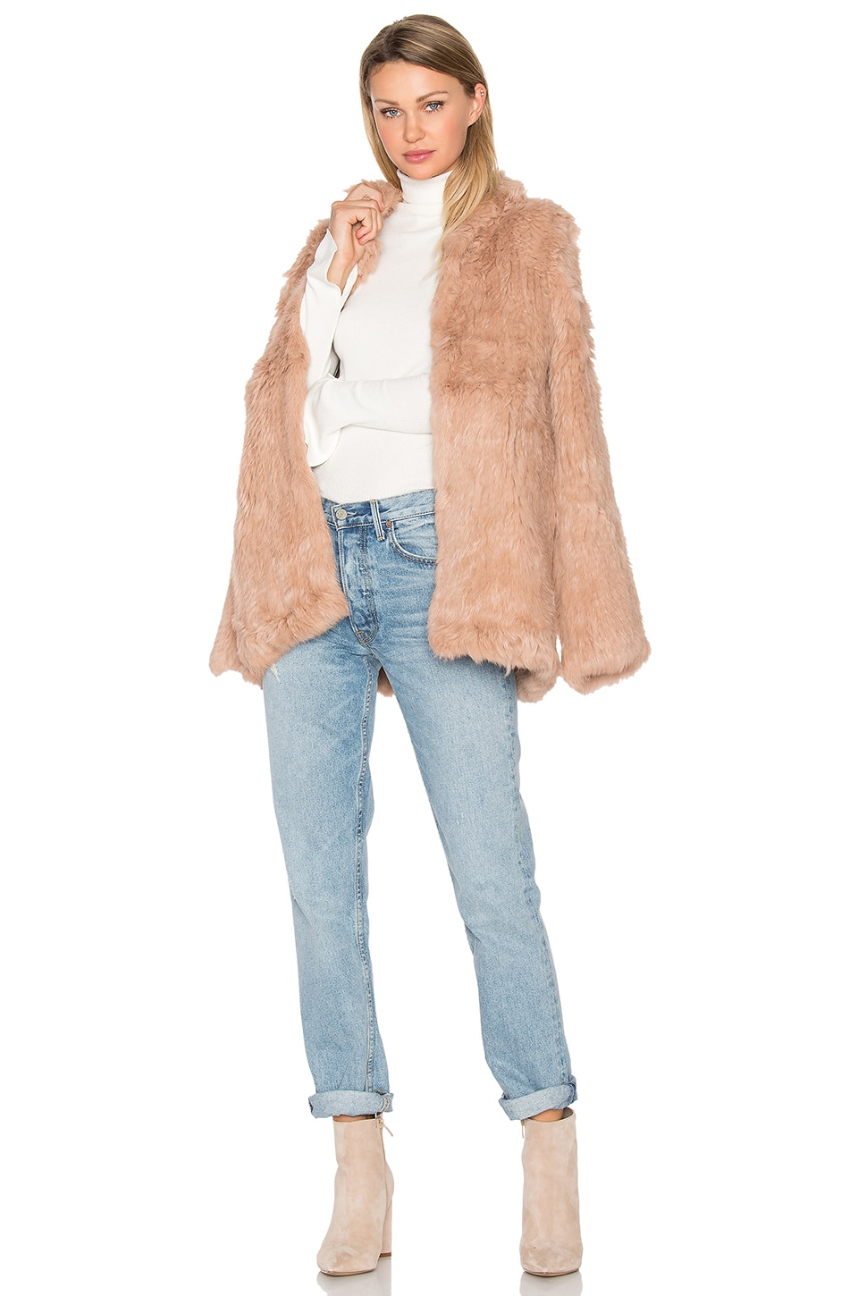 Denver Rabbit Fur Jacket by EAVES