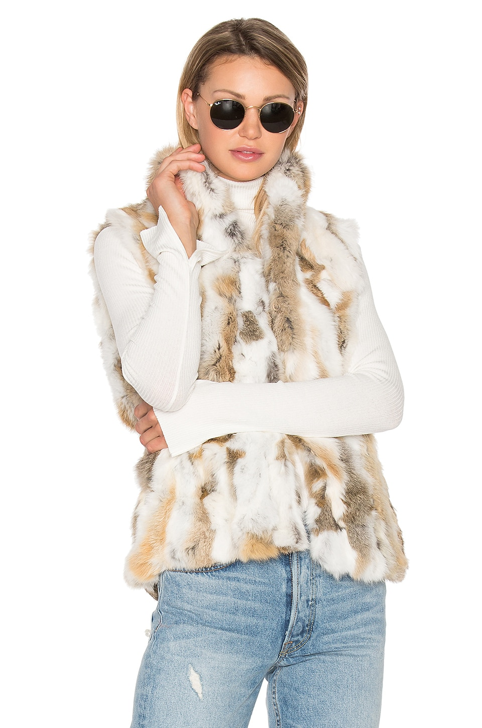 Denver Rabbit Fur Vest by EAVES