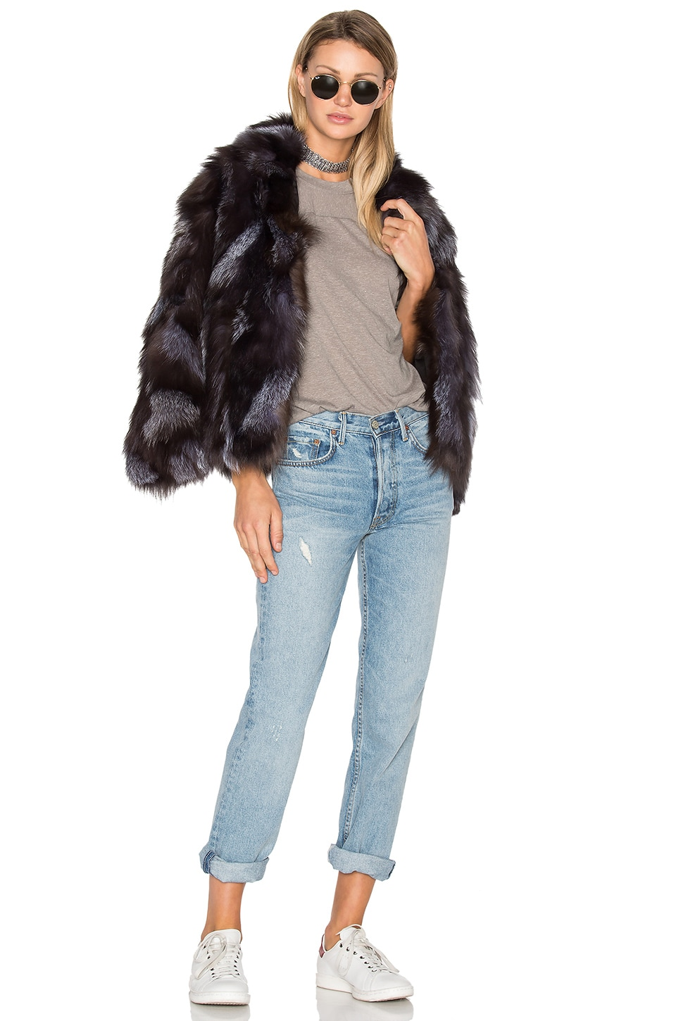 Jessa Fox Fur Jacket by EAVES