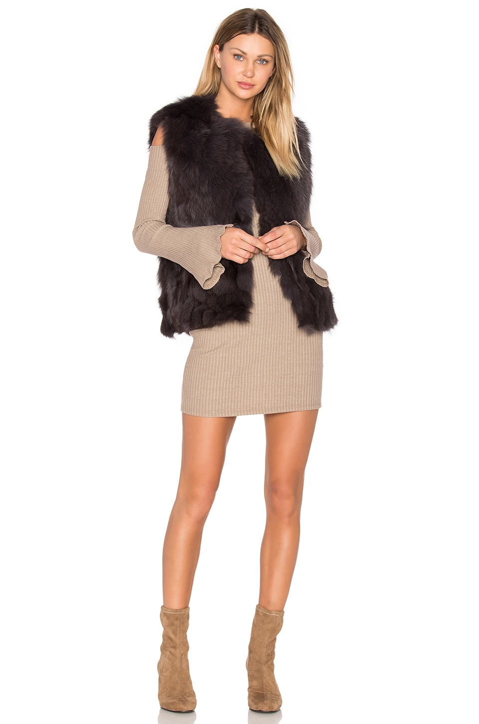 Helen Fox Fur Vest by EAVES
