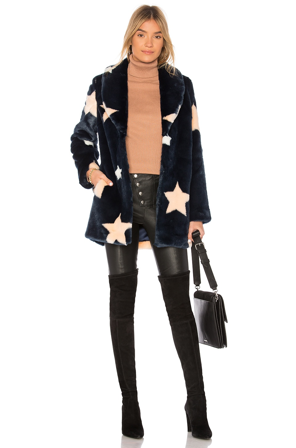 EAVES Althea Faux Fur Coat in Cosmic