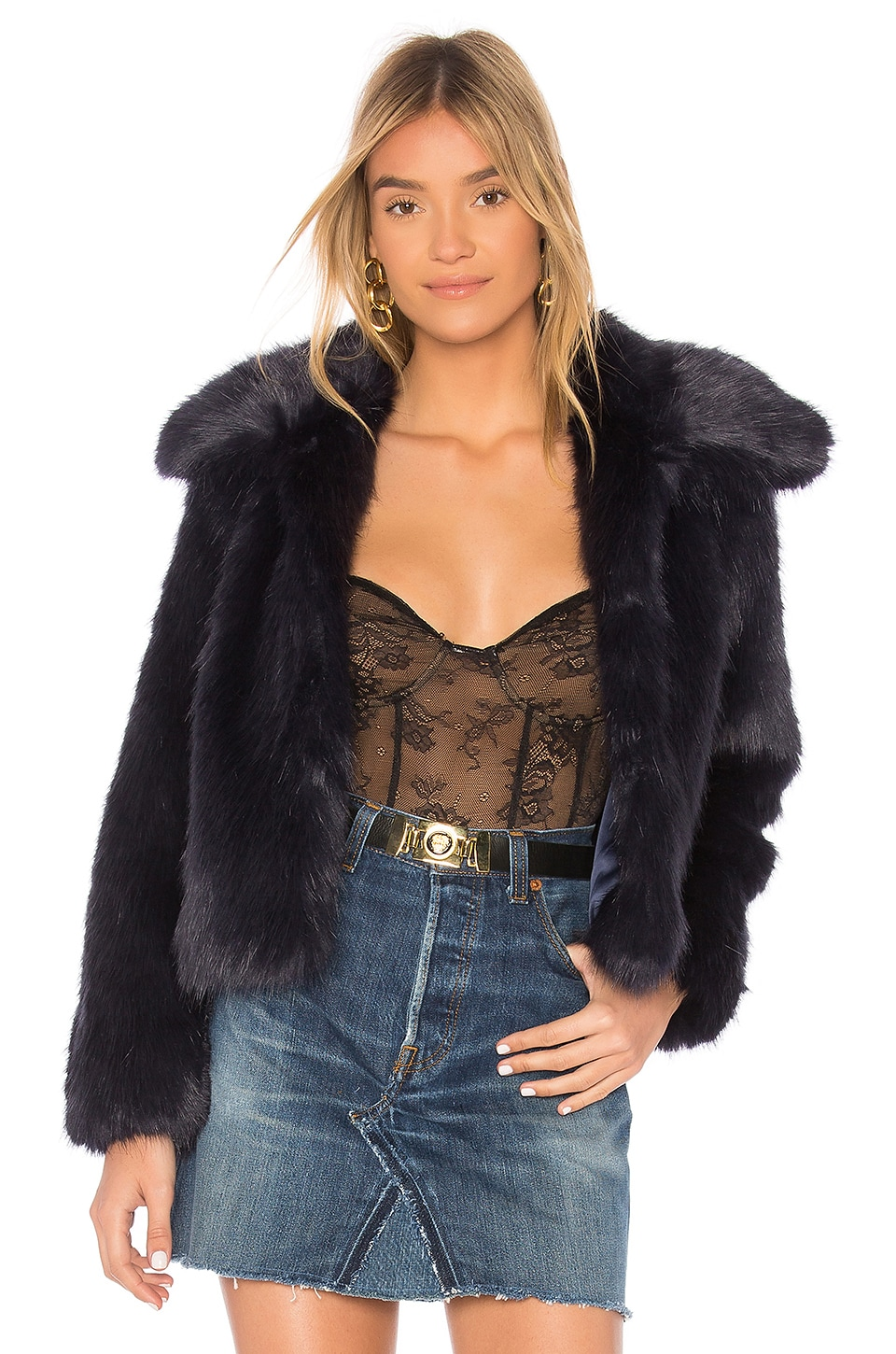 x REVOLVE Ryder Faux Fur Jacket by EAVES