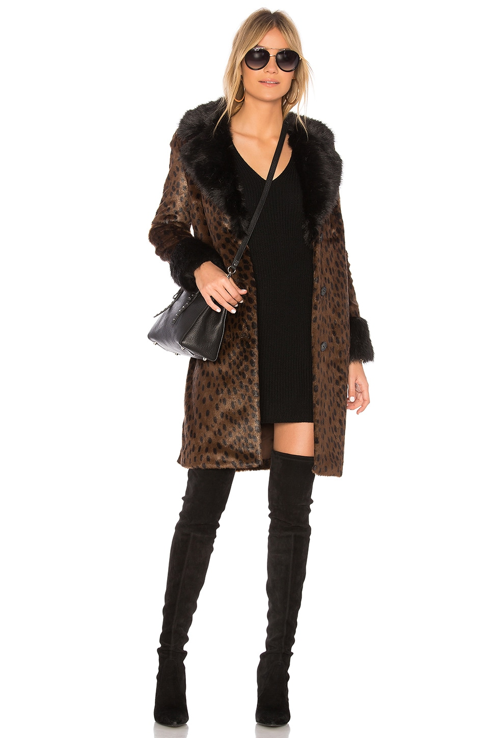 x REVOLVE Emmie Faux Fur Coat by EAVES