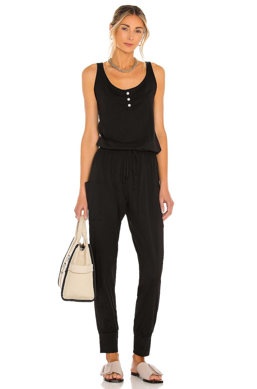 eberjey Brie Cargo Jumpsuit in Black
