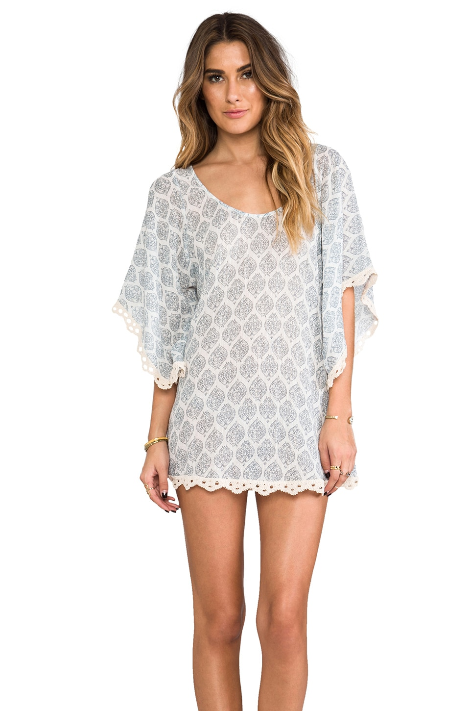 eberjey Clara Tunic in Beached Blue