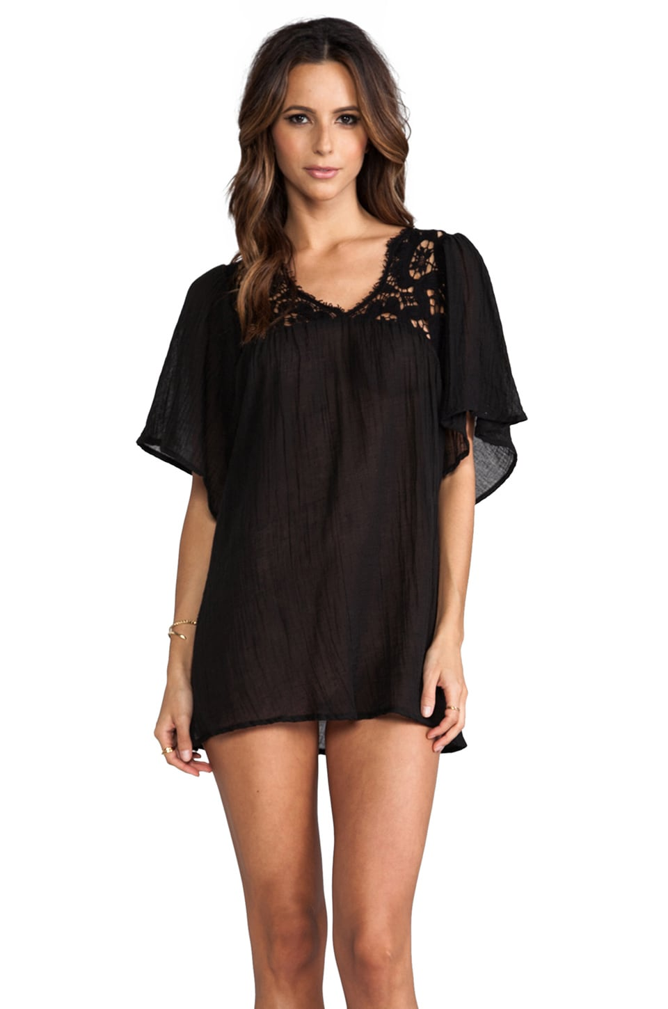 eberjey Anabelle Tunic in Black
