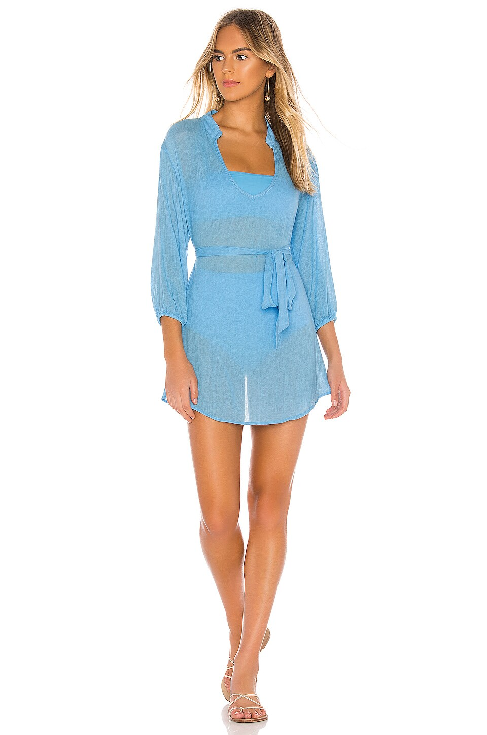 eberjey Summer Of Love Brenna Dress in Ethereal Blue