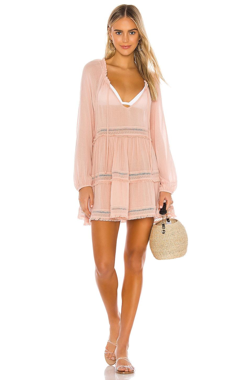 eberjey Summer Of Love Sofia Dress in Misty Rose