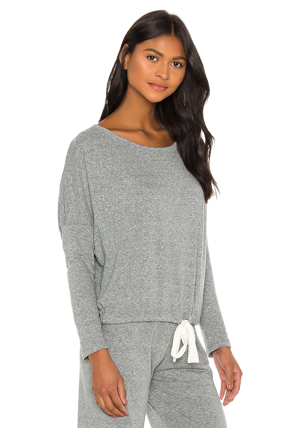 eberjey Heather Slouchy Tee in Heather Gray