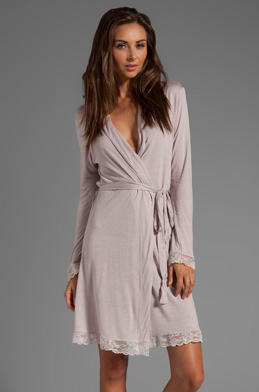 eberjey Belinda Classic Robe in Mist/Sorbet