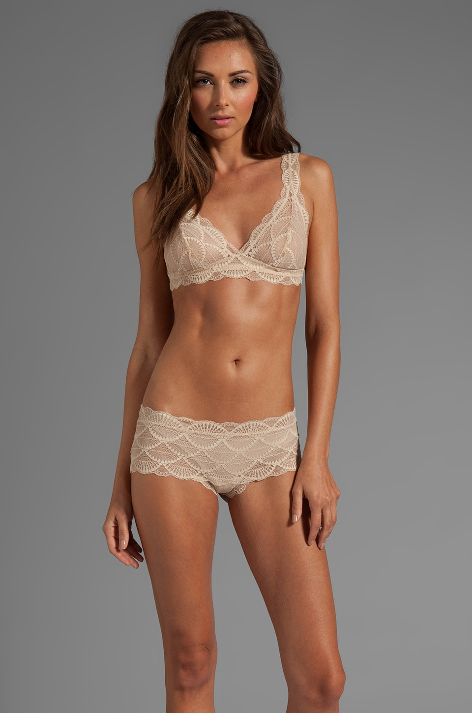 eberjey Matilda Bralet in French Vanilla