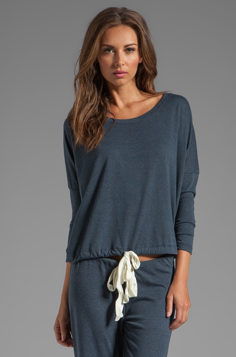 eberjey Heather Slouchy Tee in Coal Heather