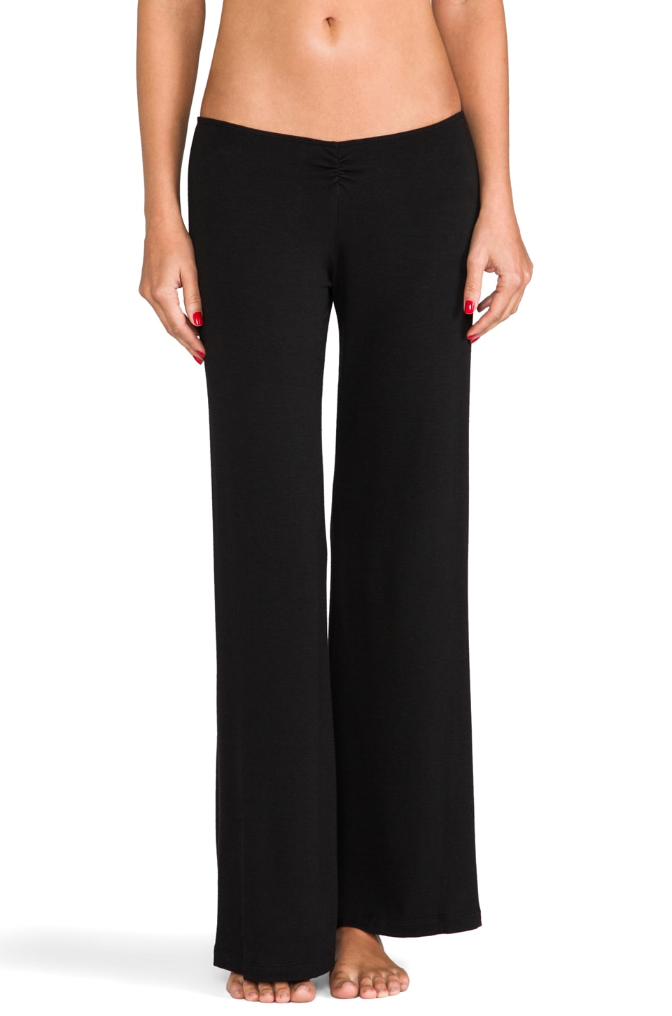 eberjey Sadie Cinched Pant in Black