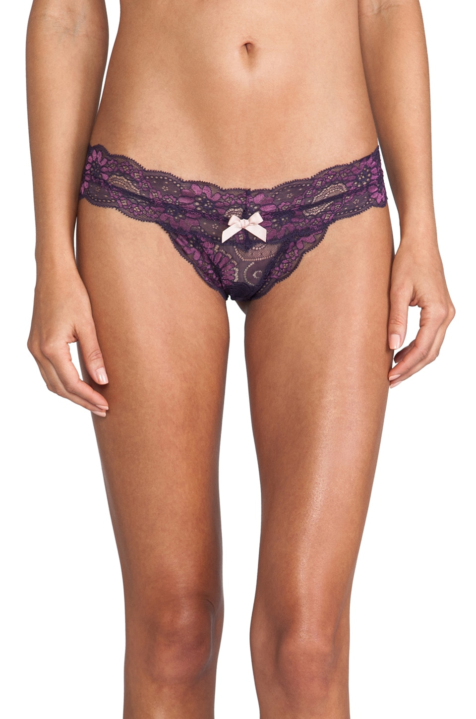 eberjey Daisy Thong in Grape/Jam
