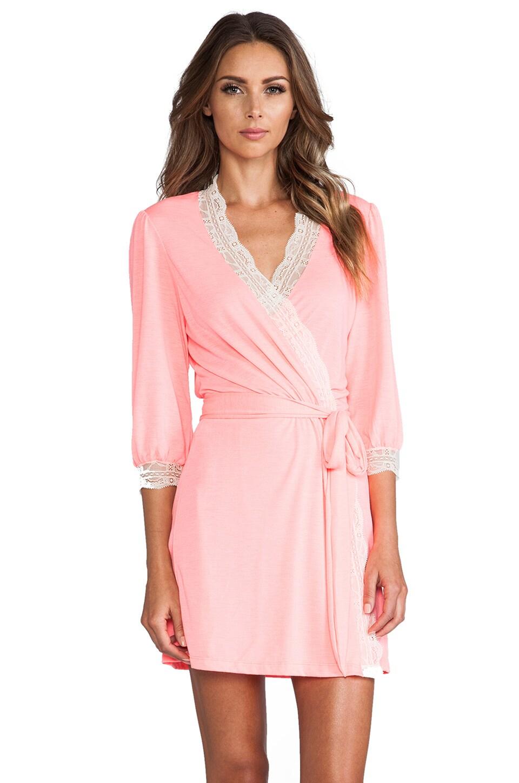 eberjey Hannah Cuff Robe in Pink Glow
