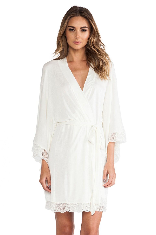 eberjey Kimono Robe in Ivory