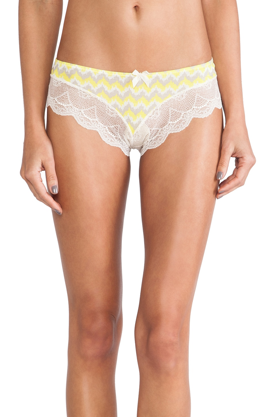 eberjey Brief in Citrus Glow & Jute
