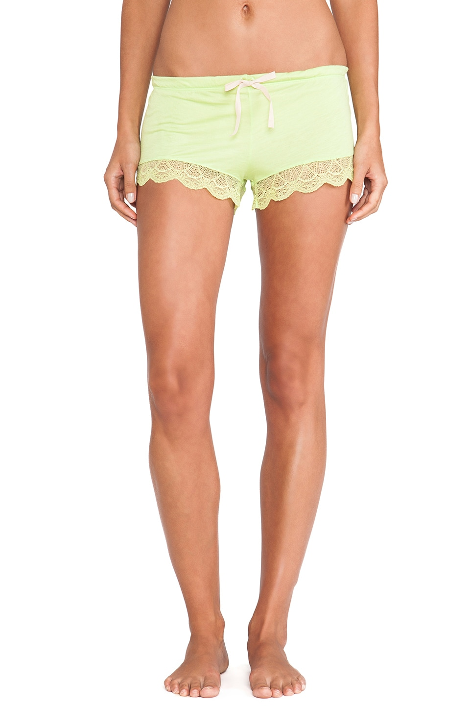 eberjey Zinia Short in Chartreuse