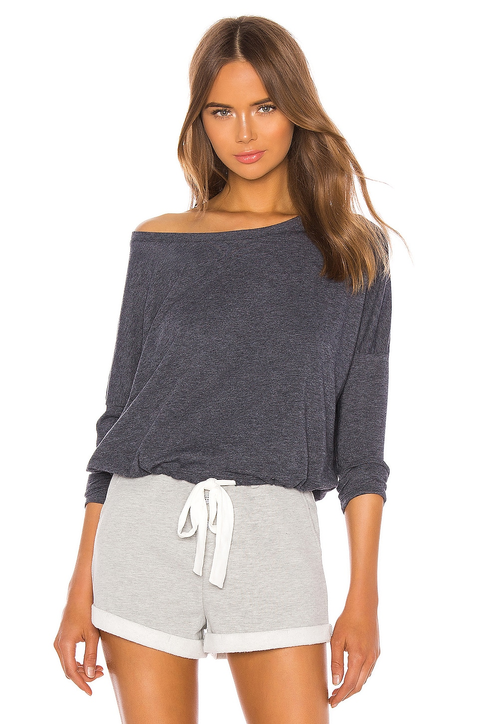 eberjey Heather Slouchy Tee in Indigo Sea