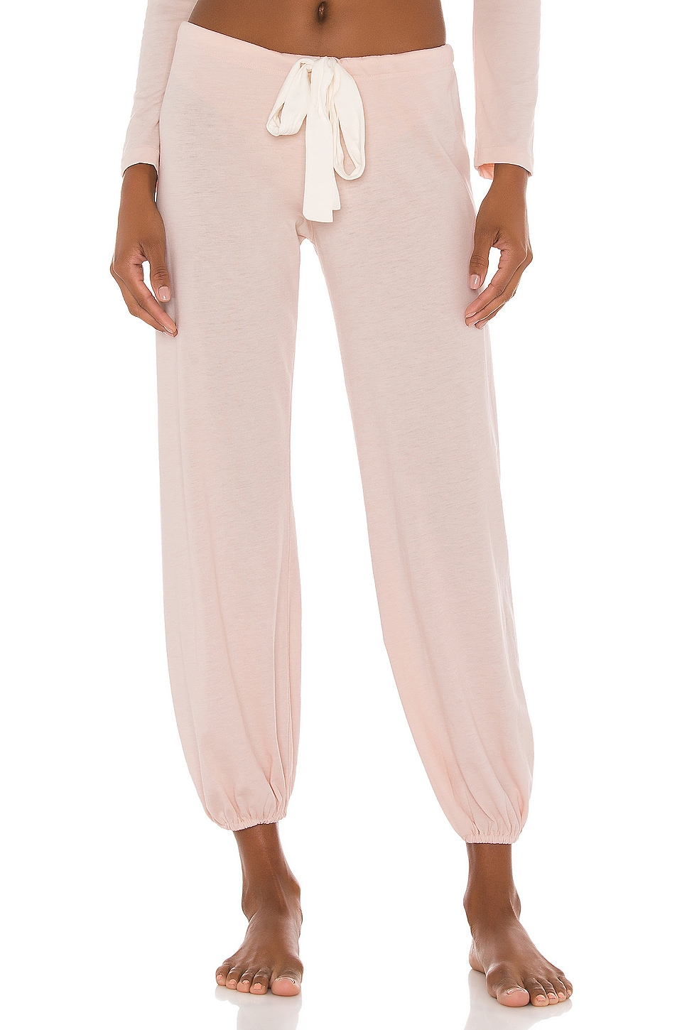 eberjey Heather Cropped Pant in Shell