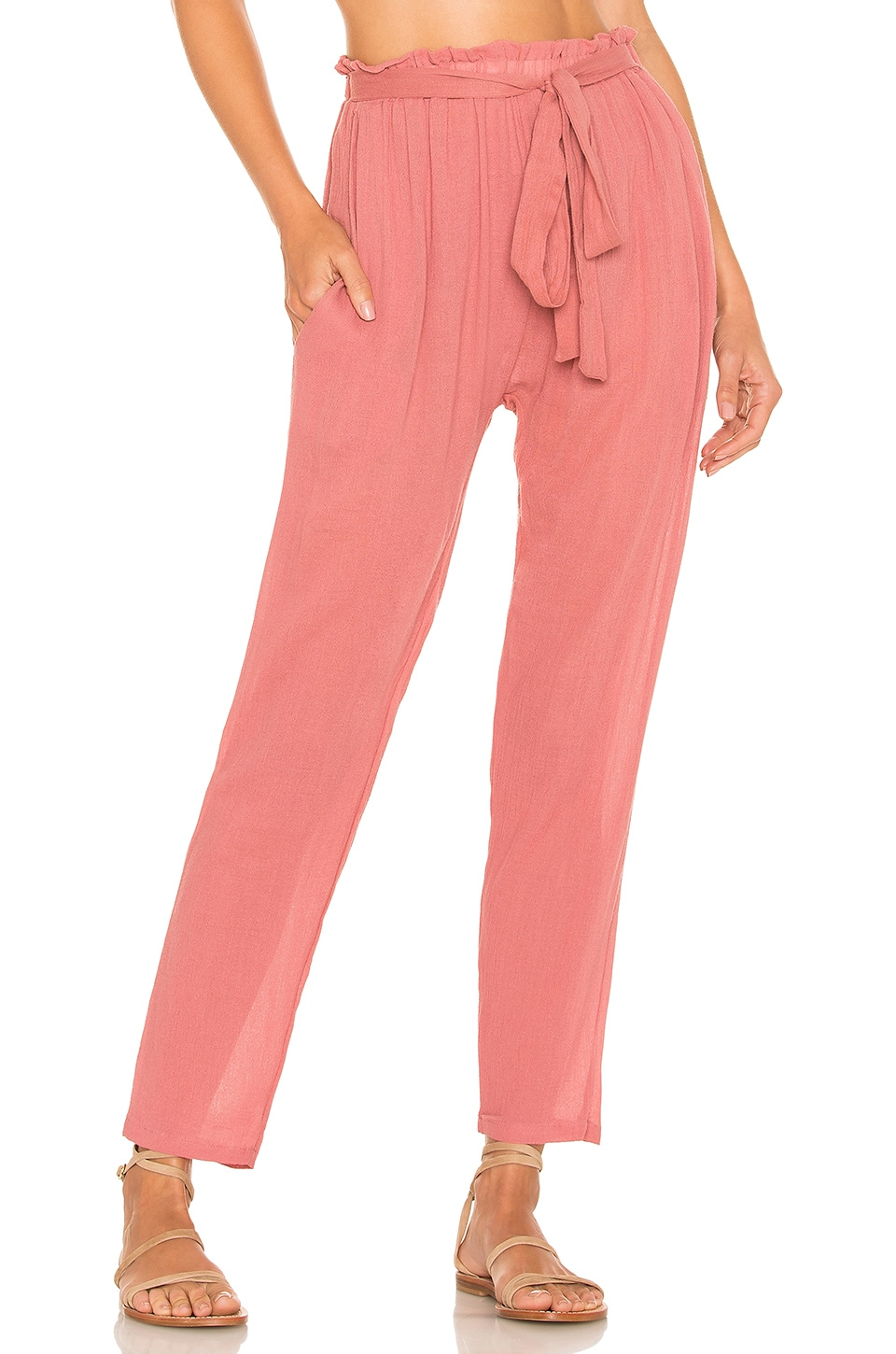 eberjey Summer Of Love Hudson Pant in Sunset Rose