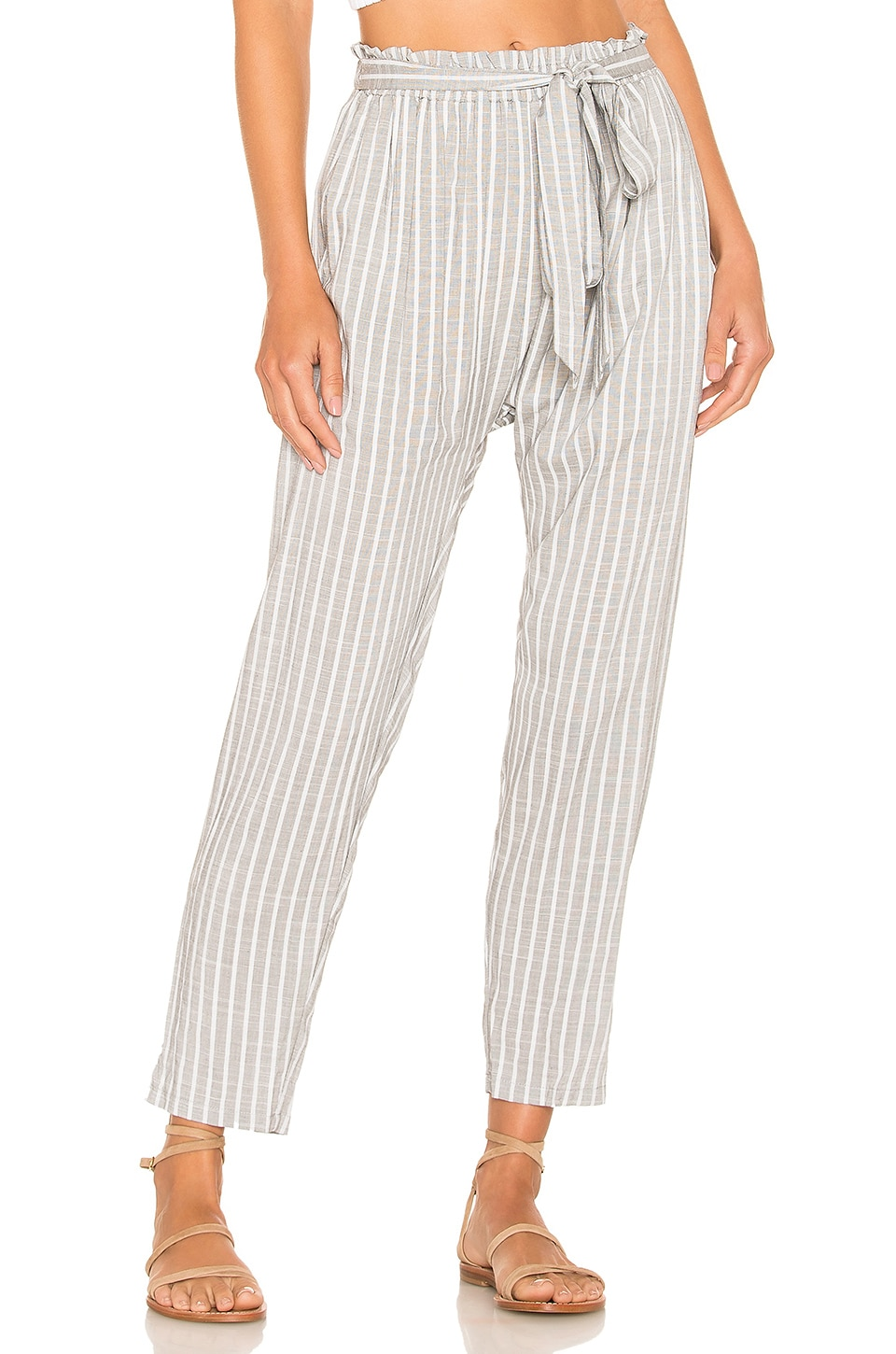 eberjey Amalfi Stripe Hudson Pant in Faded Black & White