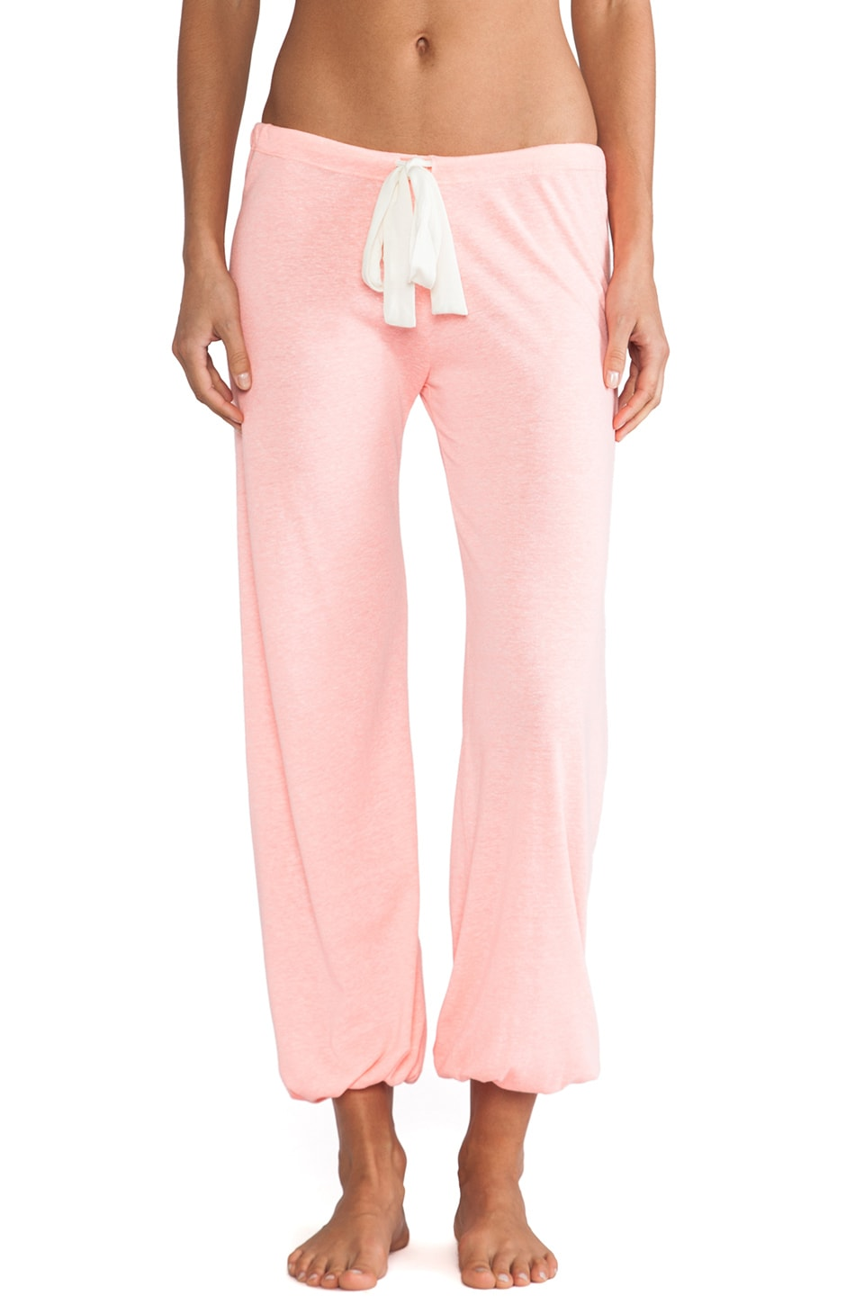 eberjey Heather Cropped Pant in Melon Glow