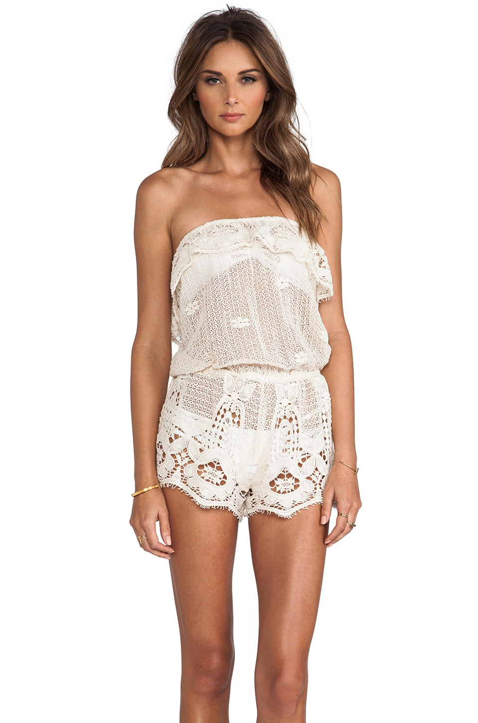 eberjey Nina Romper in Natural