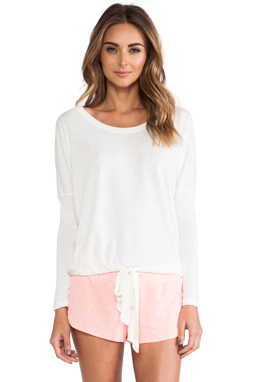 eberjey Heather Slouchy Tee in Cloud