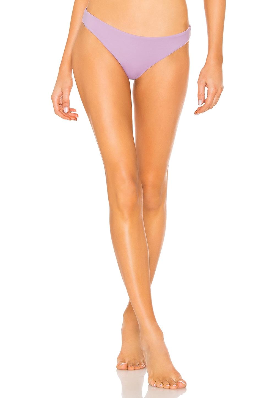 eberjey So Solid Annia Bikini Bottom in Lavender Herb
