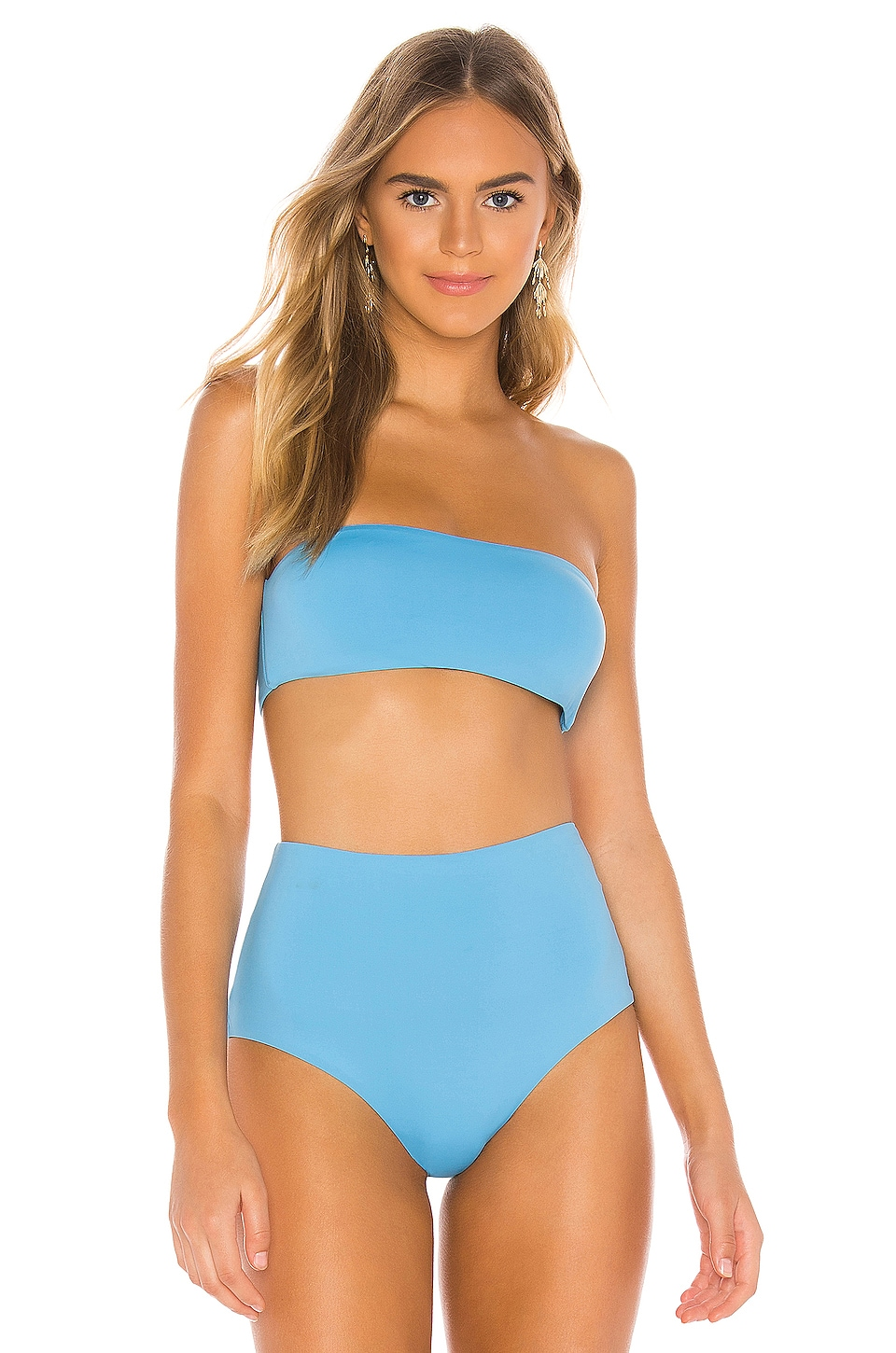 eberjey So Solid Summer Bandeau in Ethereal Blue