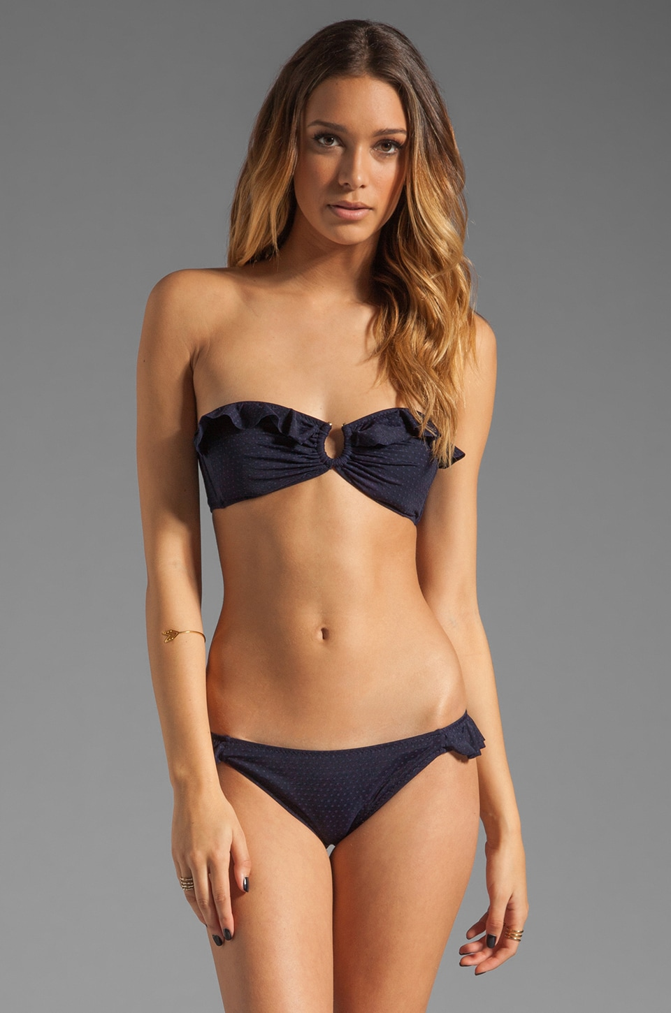 eberjey Moonshadow Mimi Bikini Top in Deep Blue
