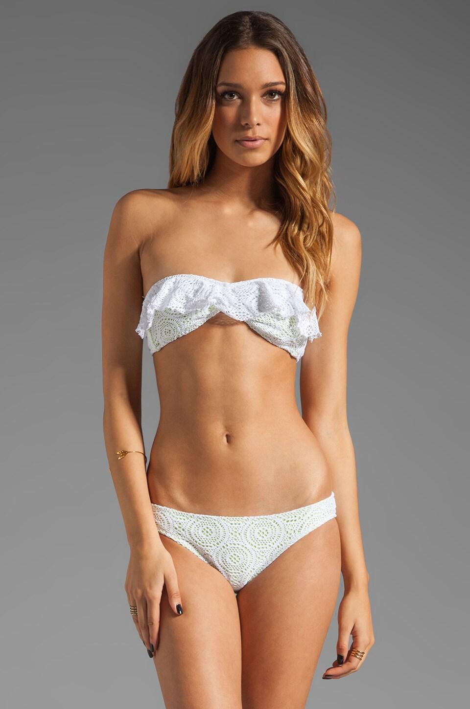 eberjey Boho Beautiful Rafealla Bikini Top in White/Lemon Glow