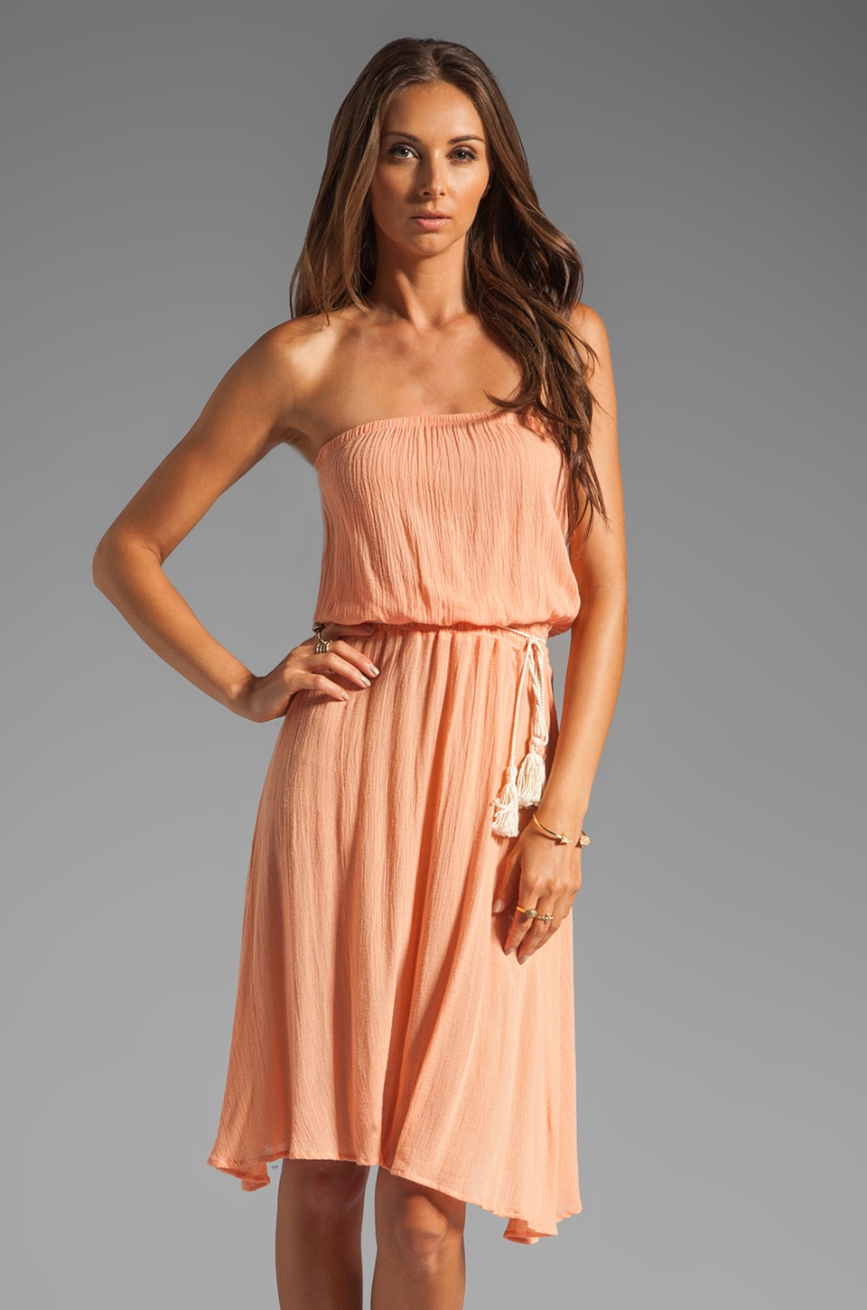 eberjey Summer of Love Ginger Cover Up in Apricot