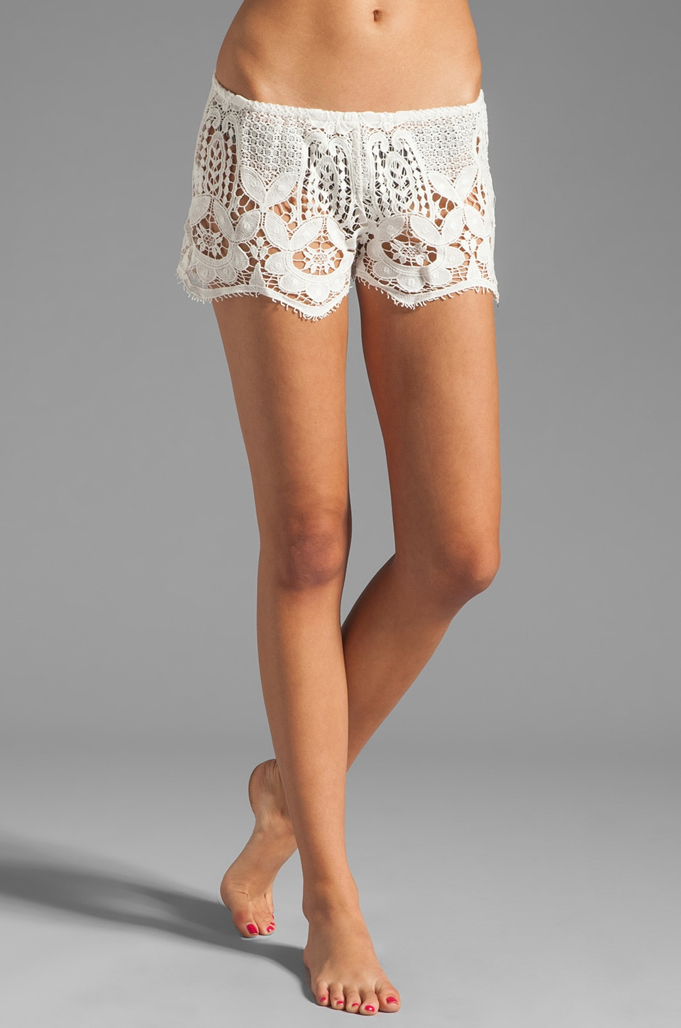 eberjey Gypsy Traveler Sam Shorts in Snow