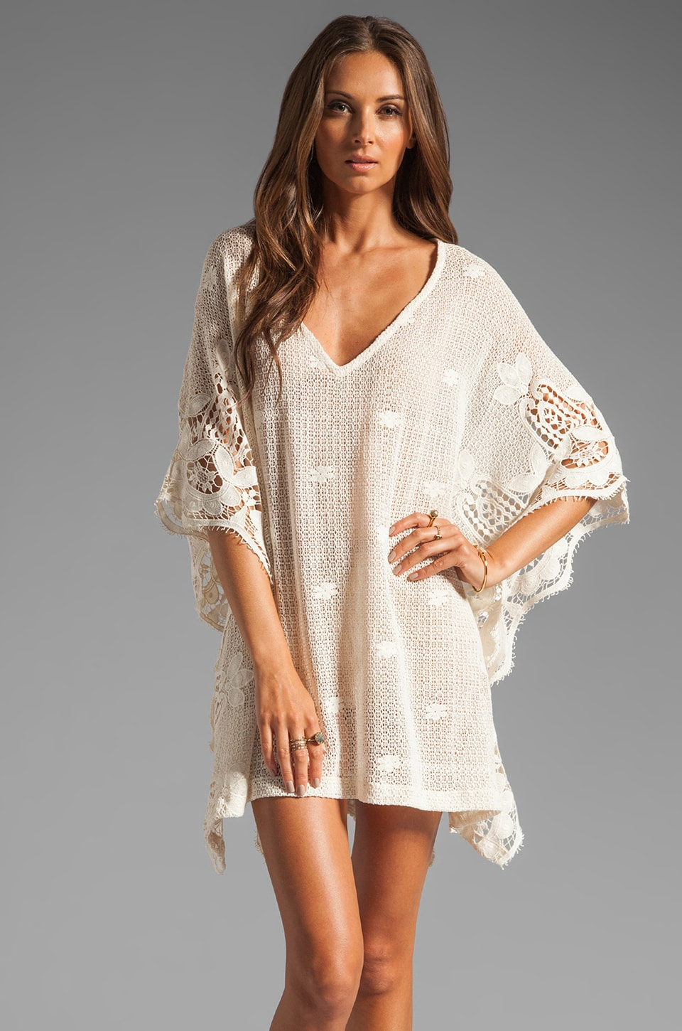 eberjey Gypsy Traveler Farrah Cover Up in Natural
