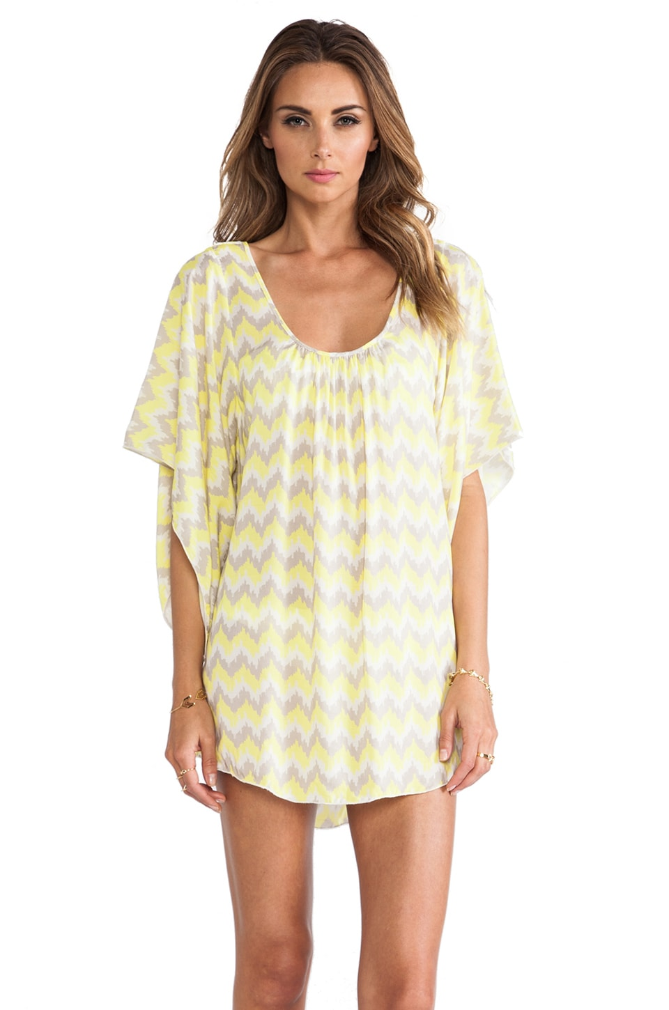 eberjey Clara Coverup Dress in Citrus & Jute