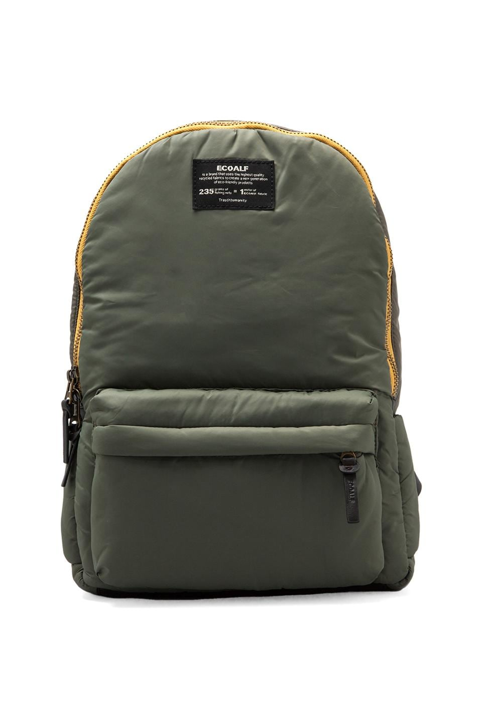 ECOALF Oslo Backpack in Deep Khaki
