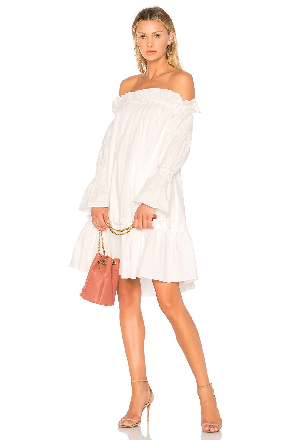 Off Shoulder Smocked Dress by EDIT