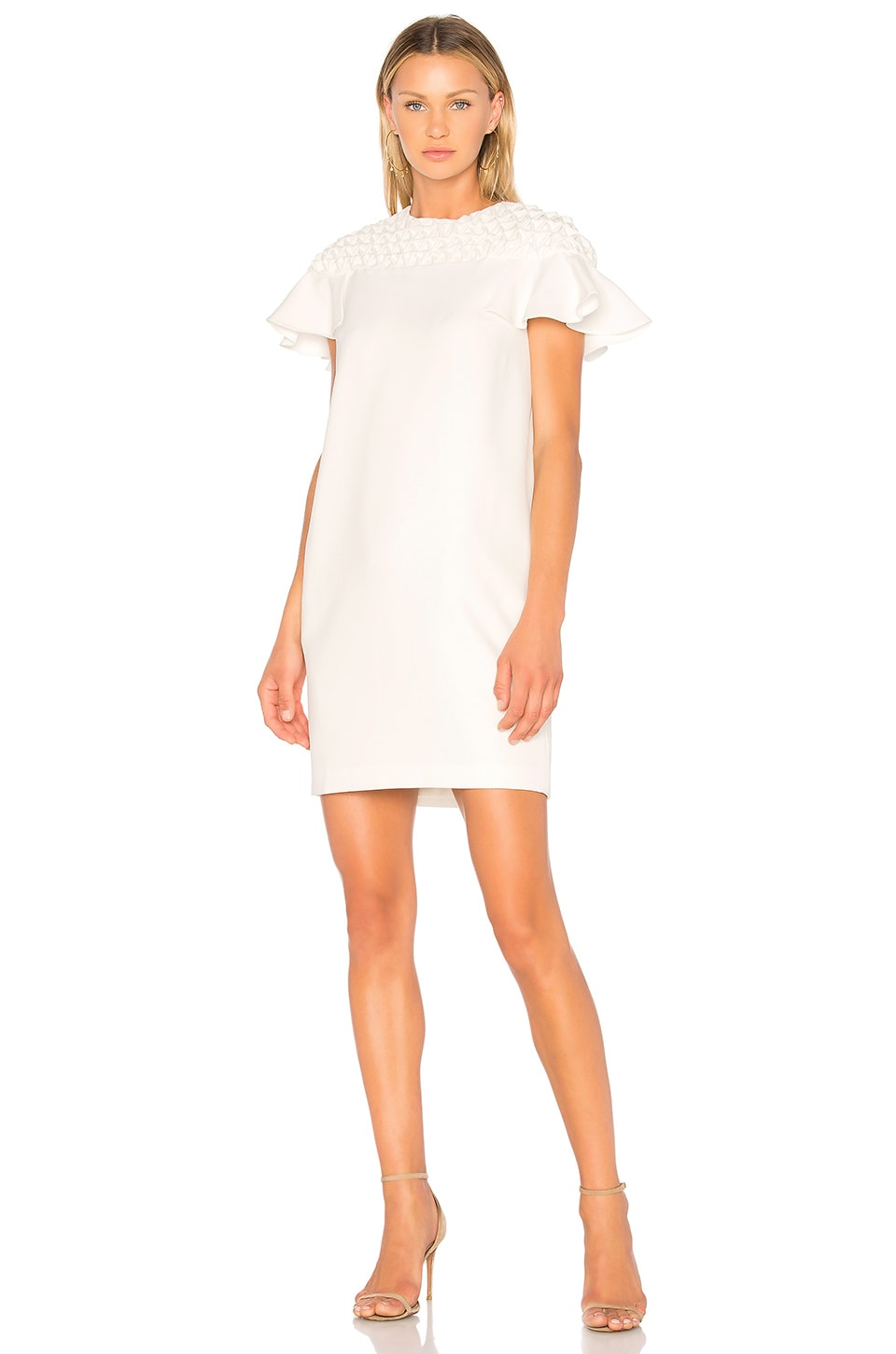 Frill Sleeve Smock Yoke Mini Dress by EDIT