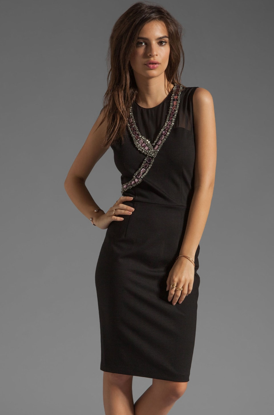 ERIN erin fetherston RUNWAY Snake Dress in Black