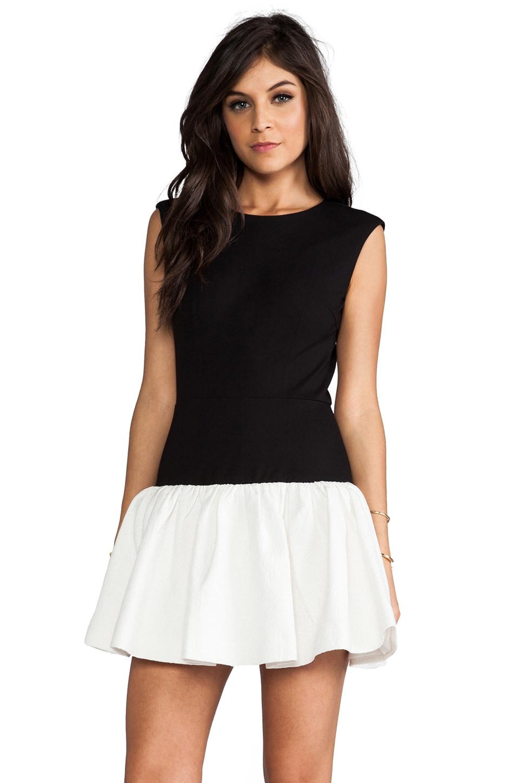 ERIN erin fetherston RUNWAY Hepburn Dress in Black/White