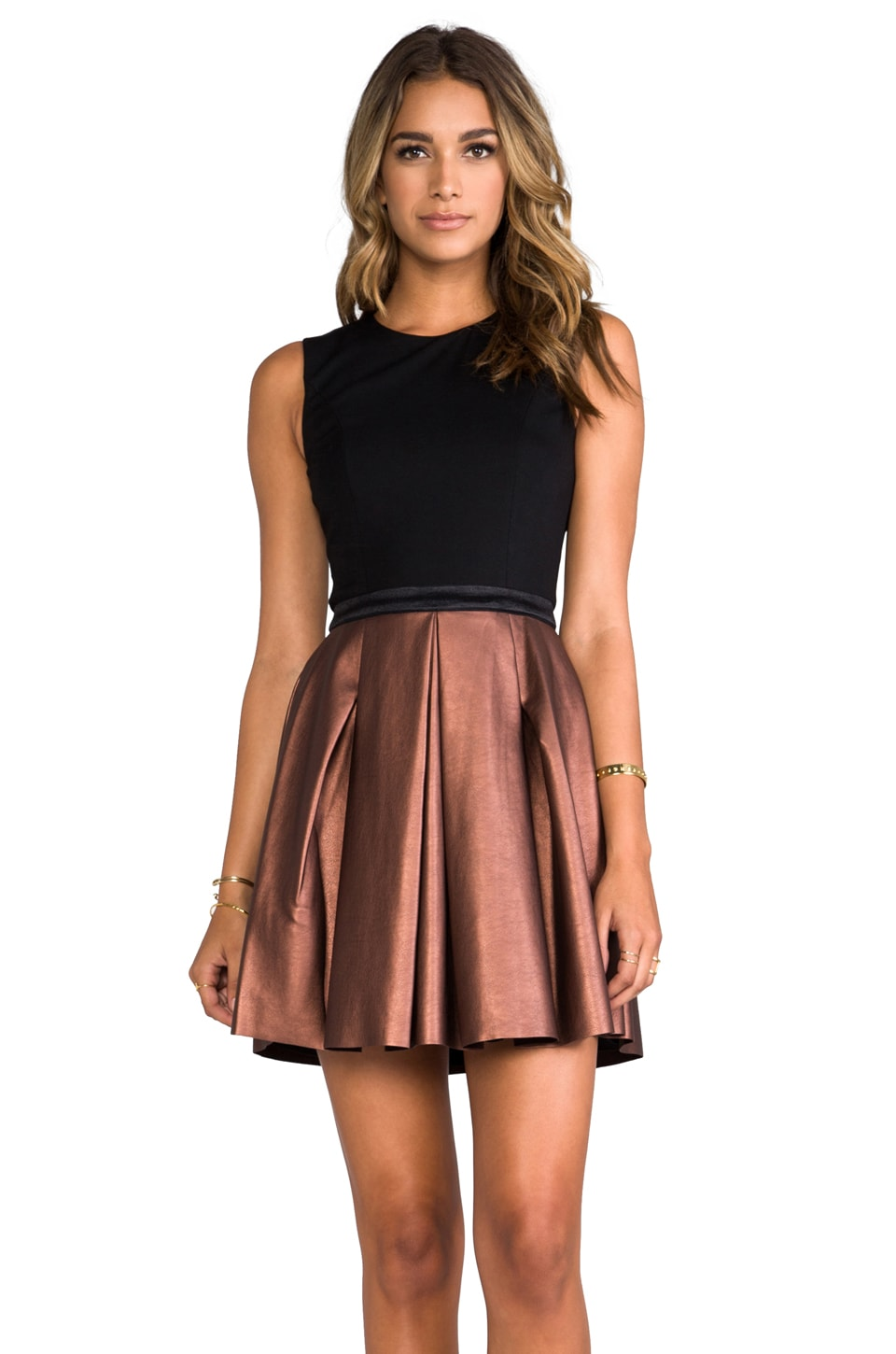 ERIN erin fetherston Abby Dress en Black/Bronze