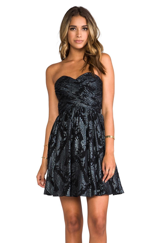ERIN erin fetherston RUNWAY Flora Dress in Black/Multi