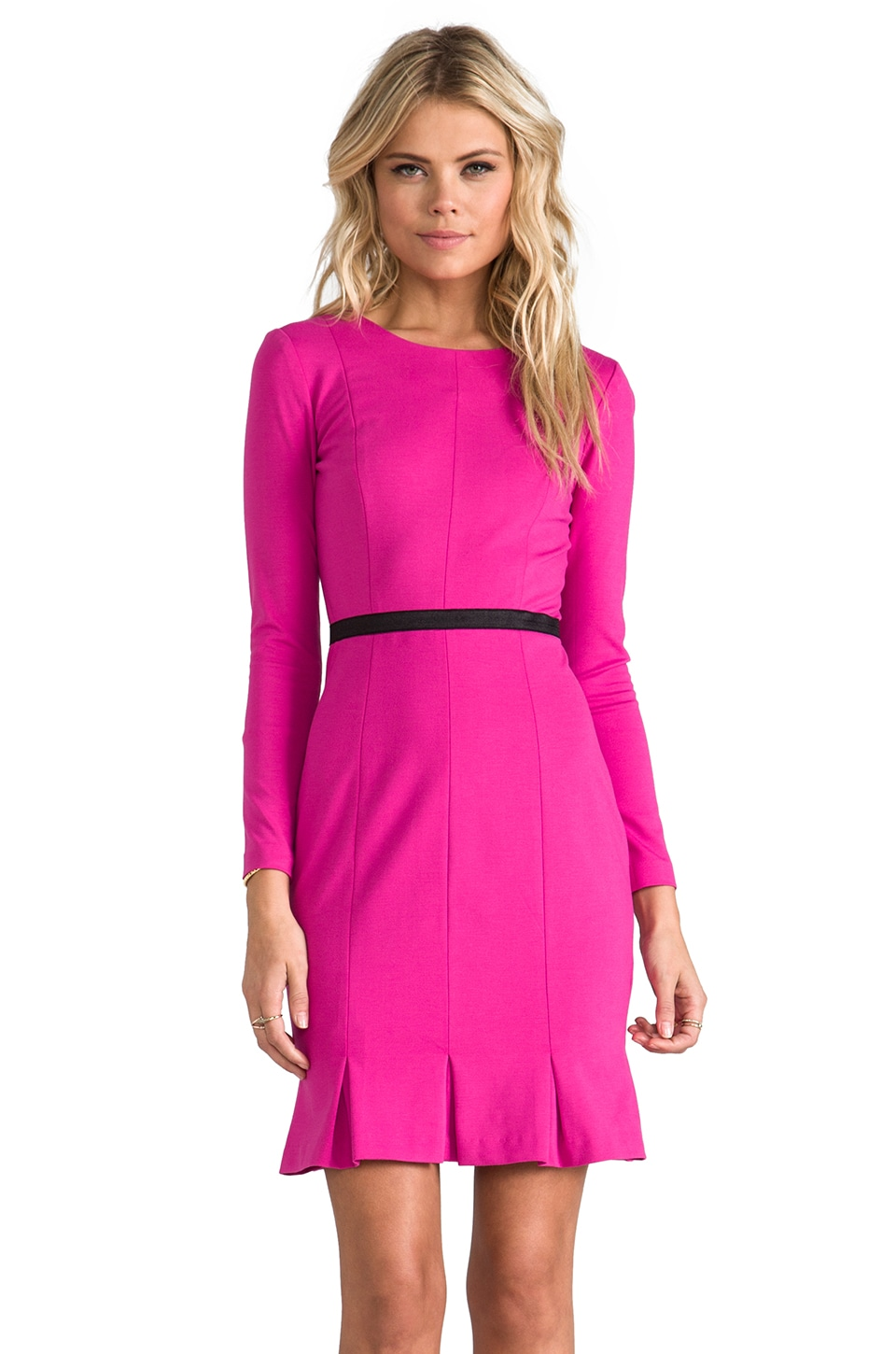 ERIN erin fetherston Edda Dress in Fuchsia/Black