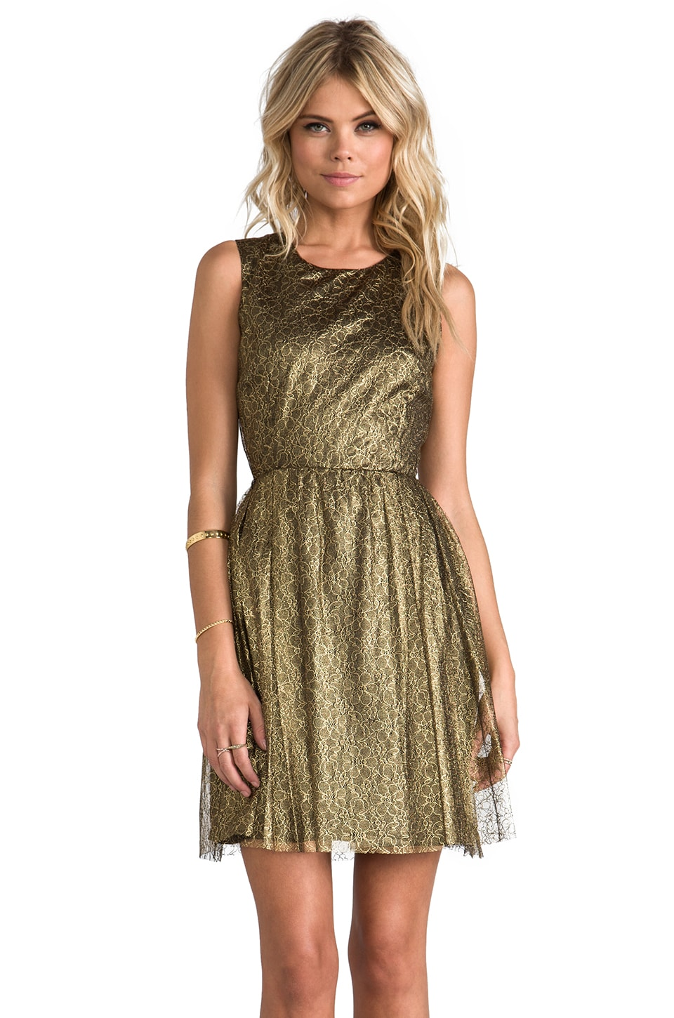 ERIN erin fetherston Odile Dress in Gold/Black