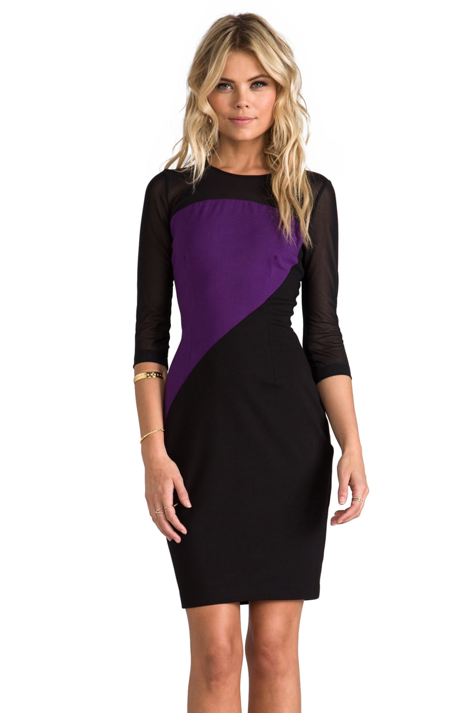 ERIN erin fetherston Piper Dress in Black/Crown Jewel